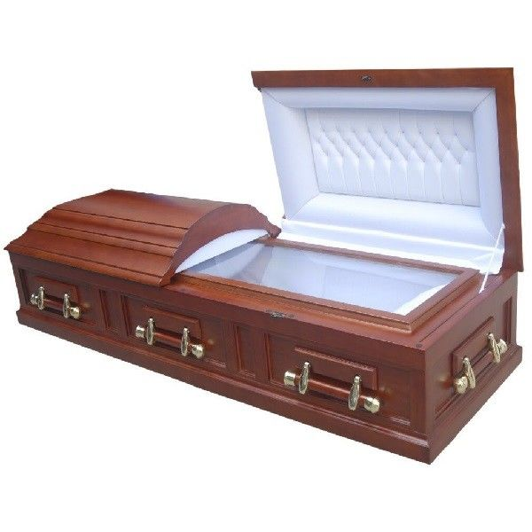 Mdf Funeral Caskets With Handle South American Style 198*58*35 Cm